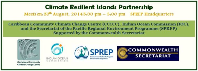 Banner for Climate Resilient Islands Partnership