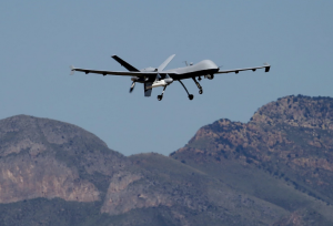CBP drone take off from Fort Huachuca in Sierra Vista, Ariz. (Matt York/AP)